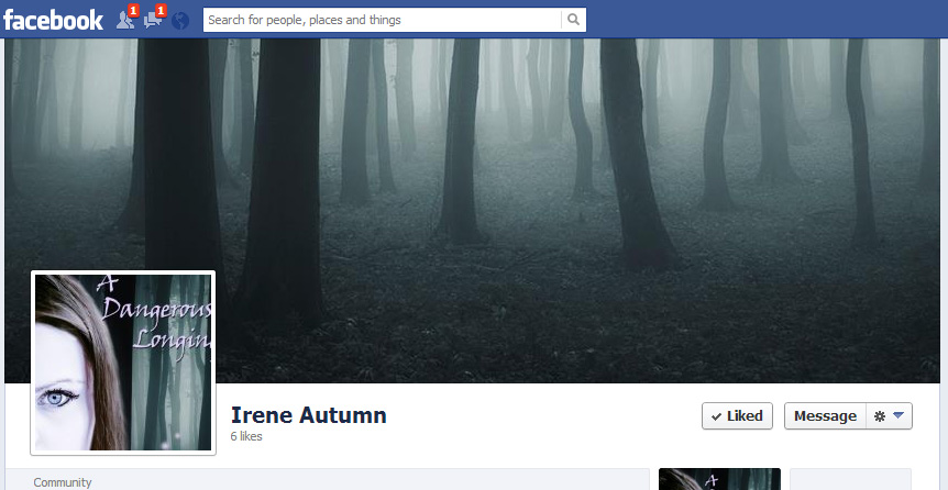 Irene Autumn Facebook page screen image